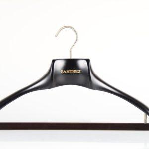 Wooden Hanger for Suit with Velvet Bar