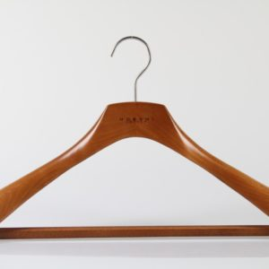 Wooden Hanger for Suit with Square bar
