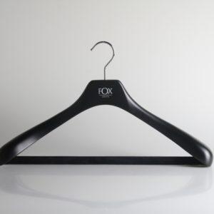 wooden coat hanger with velvet bar