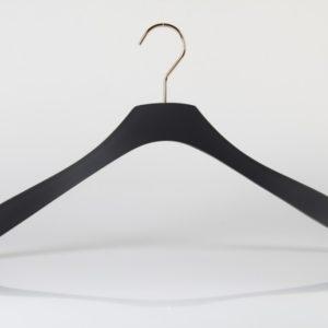 Black Rubber Coated Wood Hanger